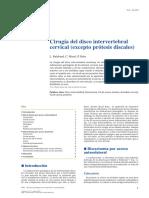 01 - Cirugía Del Disco Intervertebral Cervical (Excepto Prótesis Discales)