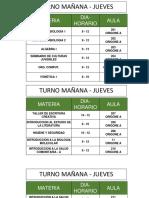 Cartelera Asignatura - Aulas Del Jueves