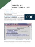 Comment Vérifier Les Enregistrements CDR Et CDR Actuels