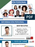 Enseñar español. Información personal