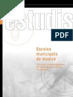 Llibre Escoles de Música Diputació