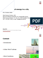 Harvesting Wind Energy in a City