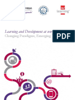 Learning and Development at Workplace-changing Paradigms and Emerging Trends