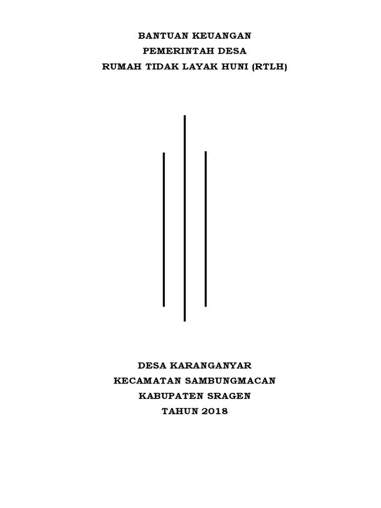 Contoh Proposal Rtlh 2018 Karanganyar 1 Docx