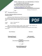 Surat Ijin Politik Lingkungan