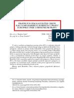 Sokol & Staničić - Pravni Položaj Katoličke Crkve Kao Gospodarskog Subjekta u Pravu EU i Hrvatskom Pravu