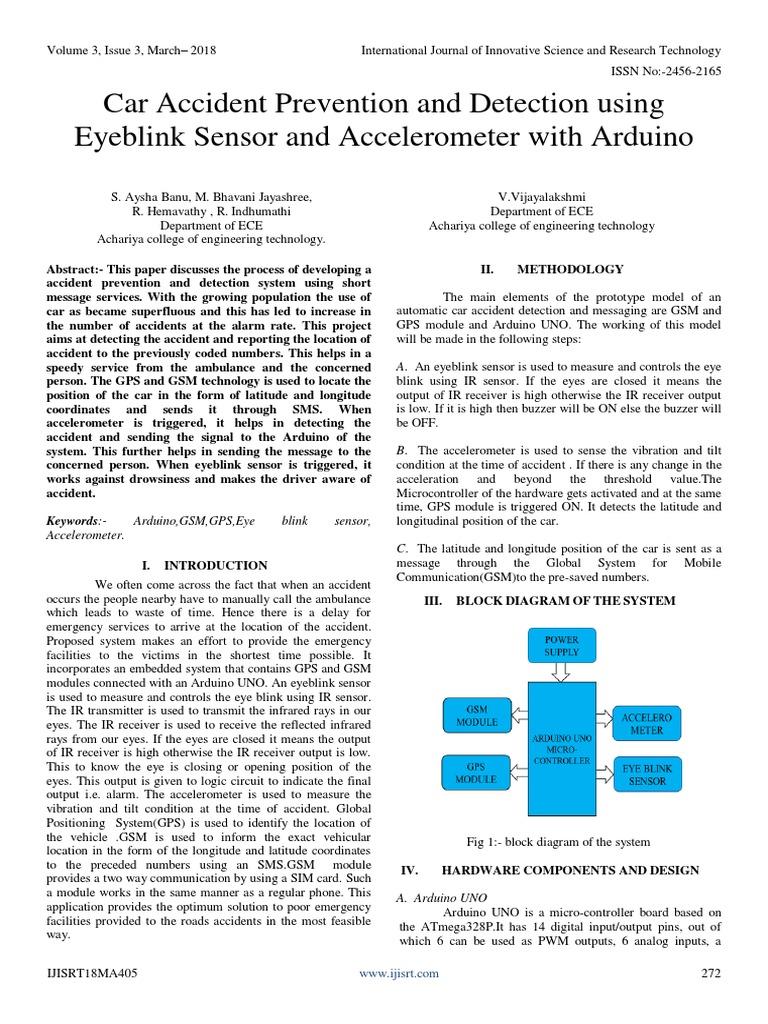 Car Accident Prevention and Detection Using Eyeblink Sensor
