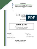 Modéle Et Structure Du Rapport de Stage ISTA NTIC SYBA(TMSIR) (1)