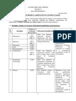 Official Notification for Cochin Shipyard Recruitment