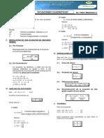 Ecuaciones de Segundo Grado - Definicion y Propiedades