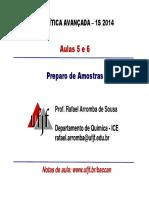 Aula Preparo de Amostras 1a Parte 1S 2014