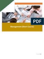 Management Short Course