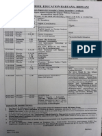 Theory Paper date Sheet