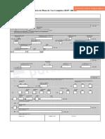 Formulário Plano de voo editável