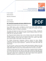 Terminate Partnership With KWS_Bioversity International (1)
