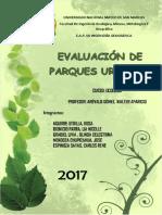 Evaluacion de Parques Urbanos