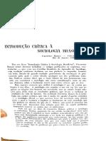 CHAVES NETO. Resenha Do Livro Introdução Critica à Sociologia Brasileira