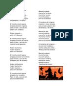 Cumbia Del Monstruo (Texto)