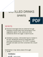 Distilled Drinks