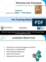 Pre Training Material PMP