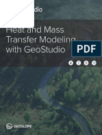 Heat and Mass Transfer Modeling Geostudio