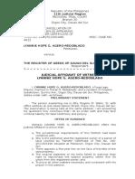 Judicial Affidavit- YANYAN