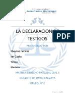 La Declaracion de Testigos Procesal Civil (2)
