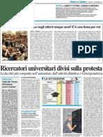Vi siete laureati a Urbino? C'è una festa per voi / Ricercatori divisi sulla protesta - Il Resto del Carlino del 16 settembre 2010