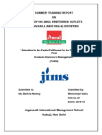 Project Report on AMUL APOs in Delhi