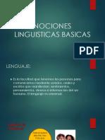 NOCIONES LINGUISTICAS BASICAS