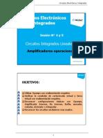 04) Circuitos Integrados Lineales(Sesion 4-5) Amplificadores Operacionales
