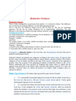Distinctive Features PHONOLOGY