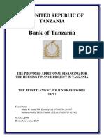 Resettlement Policy Framework for Hfp