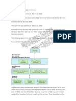 Business Activity Services Architecture