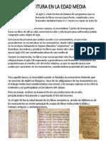 La Escritura en La Edad Media