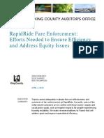 KCM Fare Enforcement Audit