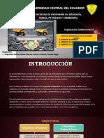 Impactos Ambientales Producto de La Actividad Minera