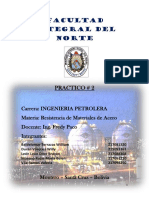 Practico 2 Resistencia de Materiales de Acero Ingenieria Petrolera