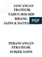 Cover Depan Fail Perancangan Strategik 2018-2020