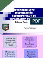12. Metodologías de Investigación Participativa y Capacitación Agrícola