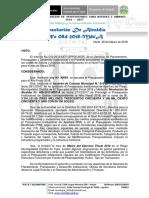 Resolución Alcaldía N° 084-2018-MDT-A; Regularización mes de Marzo