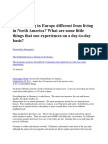 How is living in Europe different from living in North America.docx