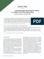 9 Propiedades y Caracterización Estructural de Vidrios Del Sistema CaO-Ti02-Al203-Si02
