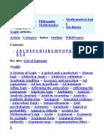 Index of Logic Wikipedia