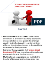 Foreign Direct Investment, Privatization and Insolvency Regimes.pptx Chapte