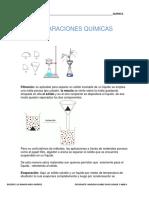 separaciones quimicas