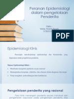 Peranan Epidemiologi Dalam Pengelolaan Penderita