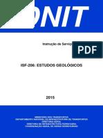 DNIT - ISF-206 - Estudos Geológicos
