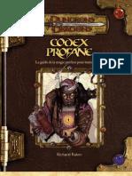 Codex Profane D&D 3.5