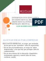 Intervención Educativa en Deficiencia Mental